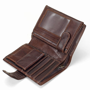 Baellerry Men Wallet Oil Wax Cowhide