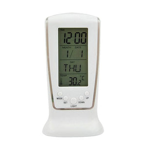 LED Digital Alarm Clock with Blue Backlight Electronic Calendar