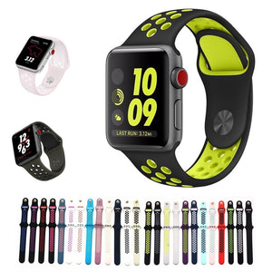 Sports Silicone strap for apple watch