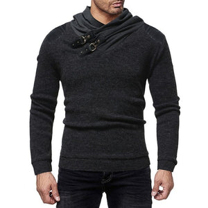 Pattern Baggy Knitting Mens  Sweater - Sdise