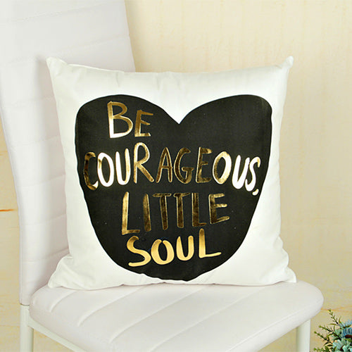 Gold Decorative Pillow Case - Sdise
