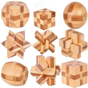 Wooden Interlocking Burr Puzzles Toy For Kids