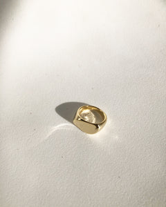 Mary Gold Ditch Cut Ring