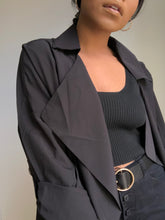 Load image into Gallery viewer, Sydney Short Trench In Black