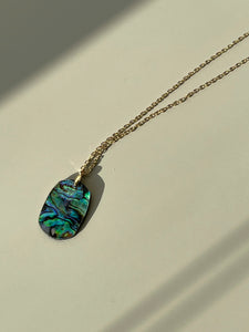 Ocean Floor Semi Precious Plate Charm Necklace