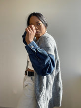 Load image into Gallery viewer, Charli Oversized Denim Jacket Sweater In Grey