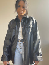 Load image into Gallery viewer, Sandra Vegan Leather Shirt Jacket