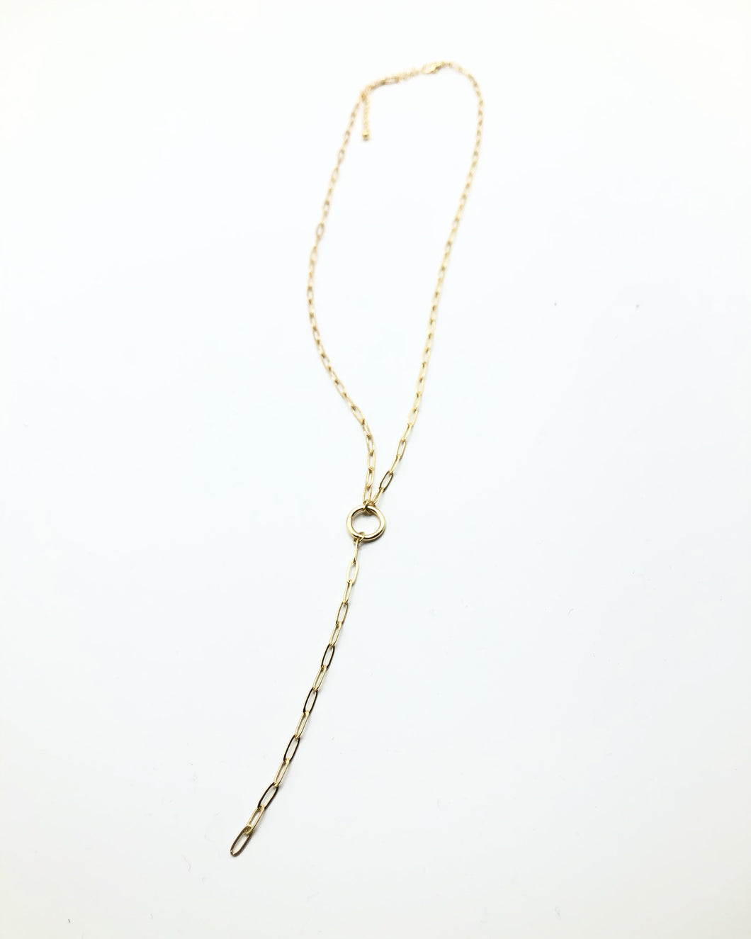 Teardrop Link Necklace In Gold