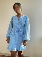 Load image into Gallery viewer, Billabong Wrap Mini Dress In Baby Blue