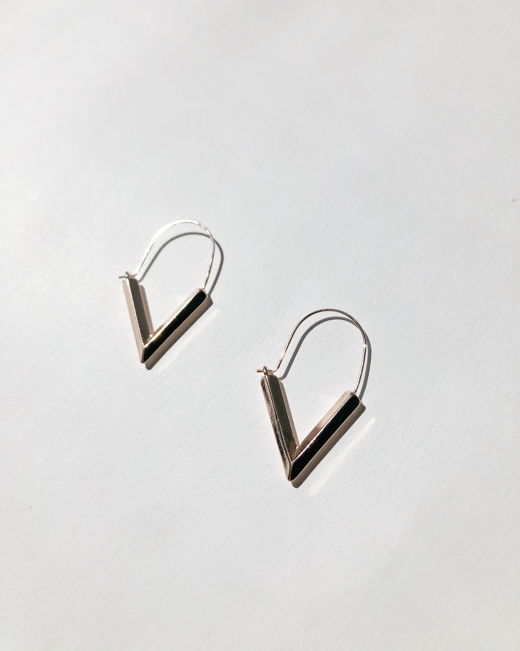 Pyramid Arched Hook Earring
