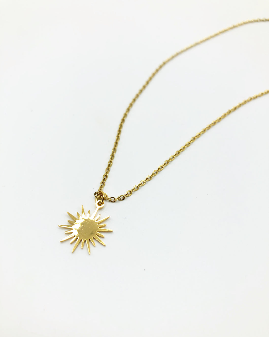 Sunbeam Charm Necklace In Gold