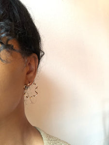 Swiveled Hoop Earring