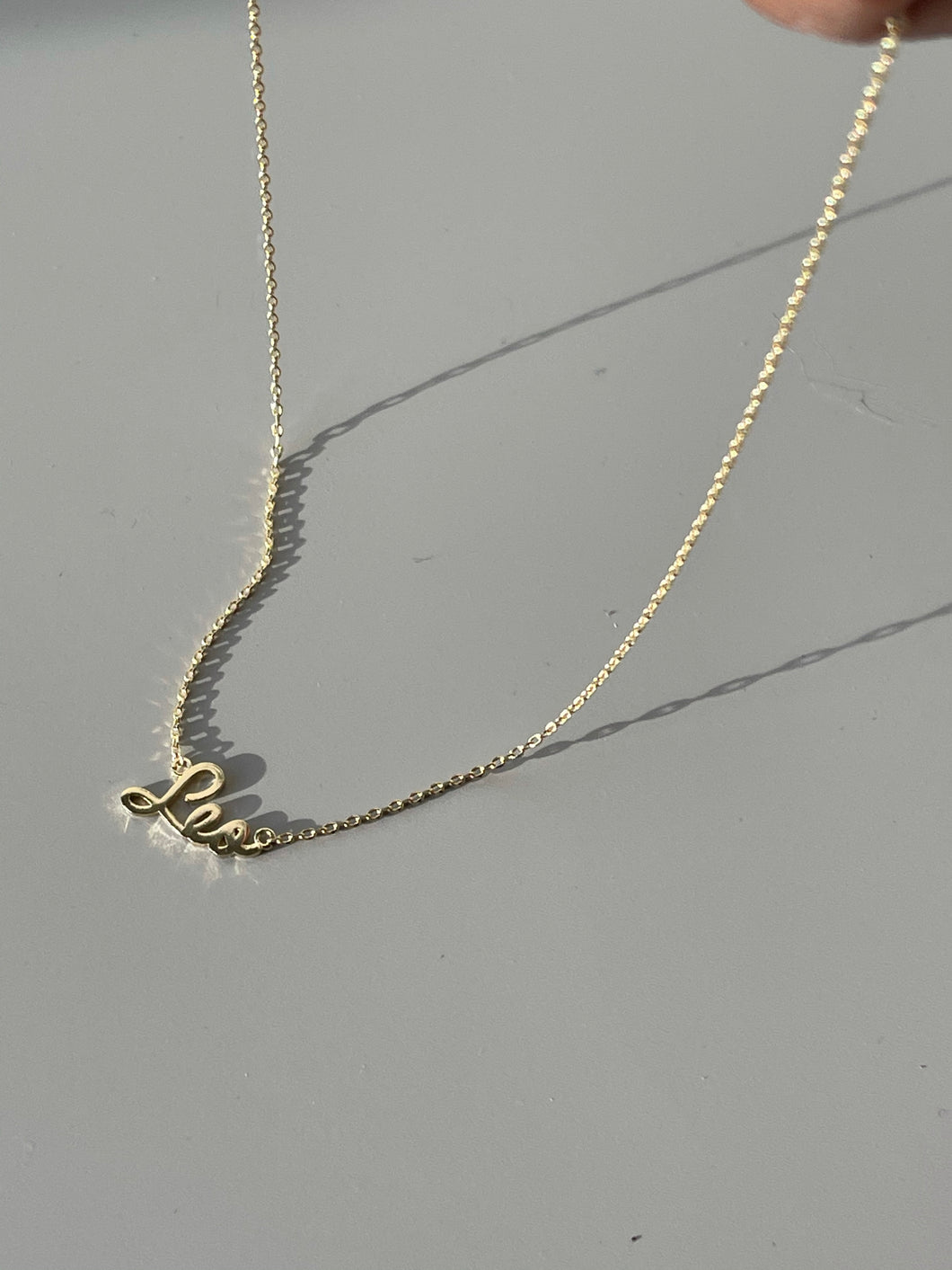 Leo Charm Necklace In Gold