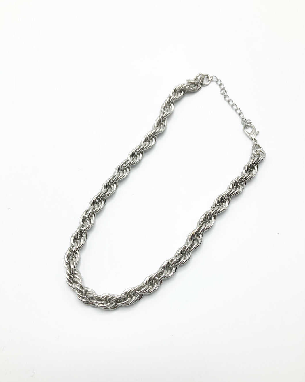 Jumbo Crum Link Necklace In Silver