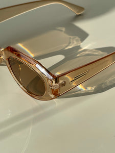 Donte Double Gold Bar Sunglasses In Tangerine