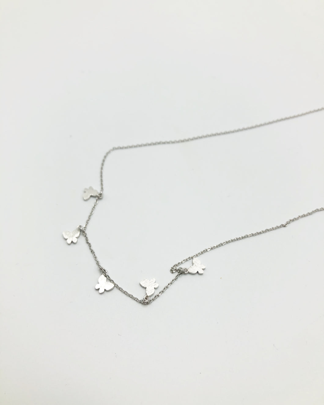 Butterfly Charm Necklace In Silver