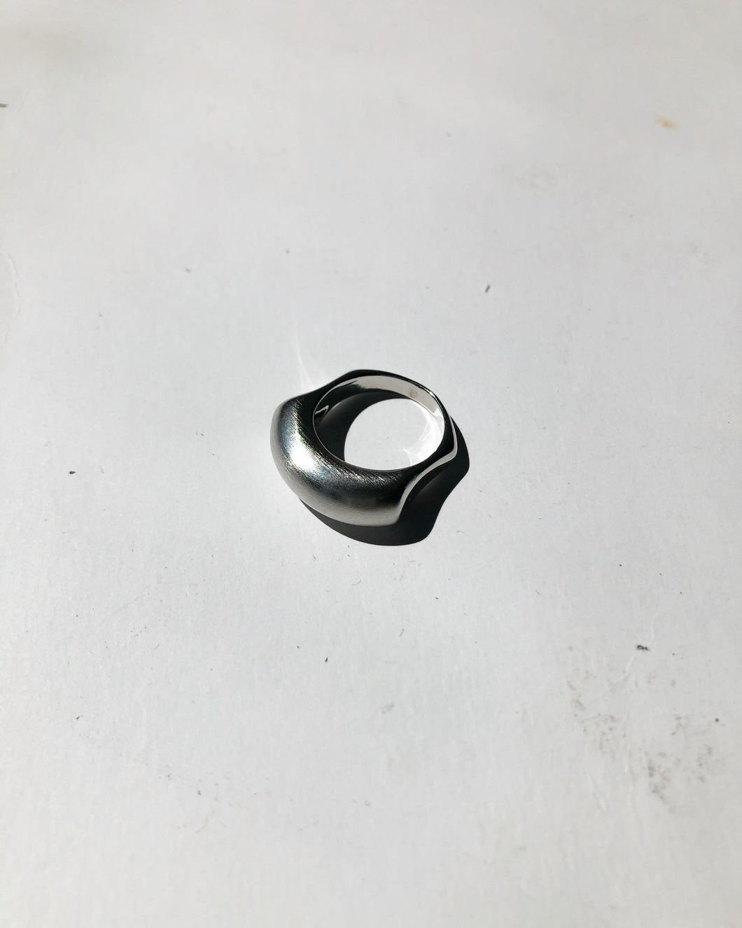 Matte Silver Finger Form Ring
