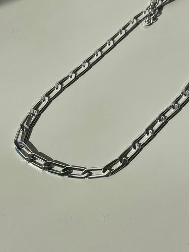 Maxi Classic Flat Crum Necklace In Silver
