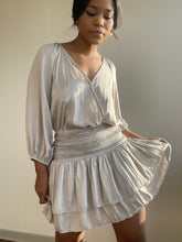 Load image into Gallery viewer, Zen 3/4 Balloon Sleeve Party Dress In Ash Taupe