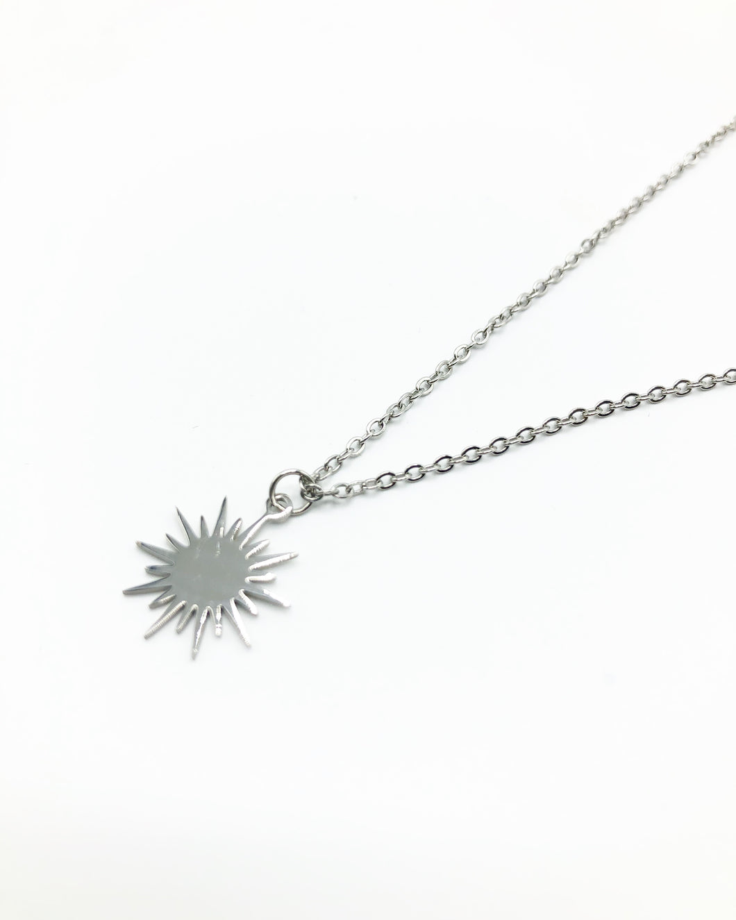 Sunbeam Charm Necklace In Silver