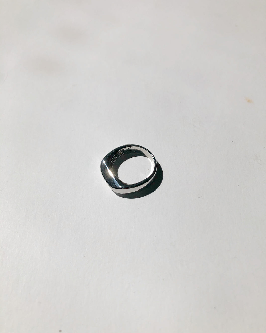 Solid Bar Ring In Silver