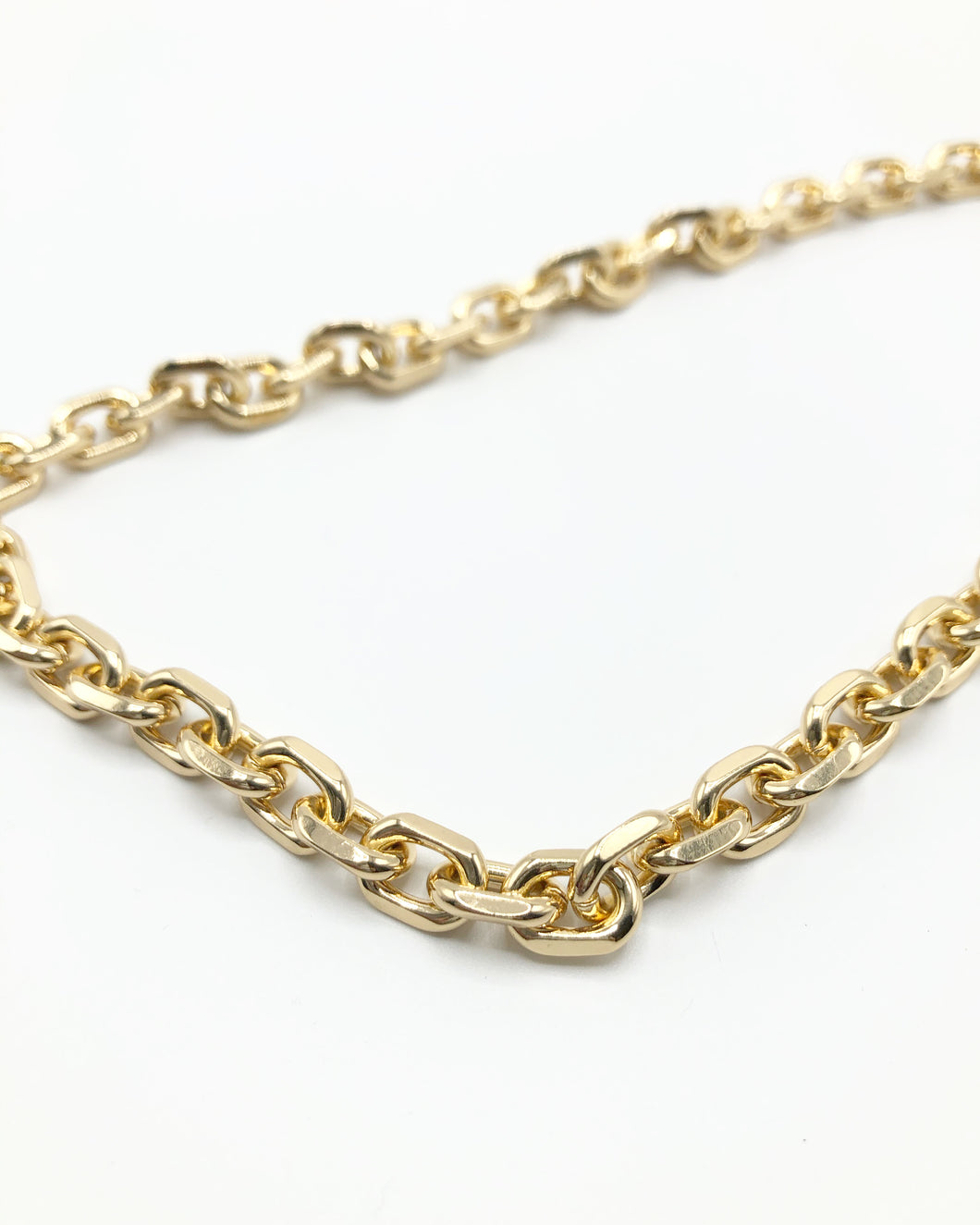 Classic Chunky Crum Link Necklace In Gold