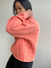 Load image into Gallery viewer, Braydon Turtleneck Simi Cropped Pullover In Tangerine