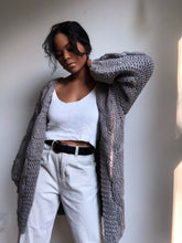 Load image into Gallery viewer, Cynthia Oversized Chunky Open Sweater In Stone Grey