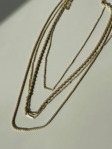 Marla Classic Layered Chain Necklace In Matt Gold