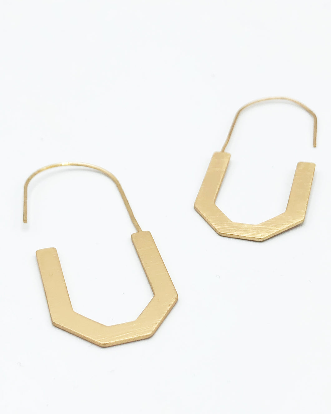 Quad Drop Hoop Earring In Matte Gold