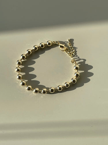 90s Classic Ball Chain Bracelet In Gold