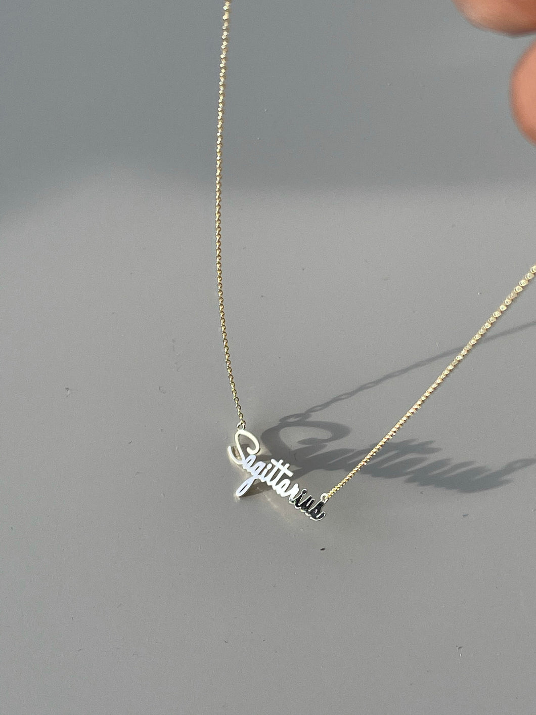 Sagittarius Charm Necklace In Gold