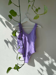 Niki Ribbed Bodysuit In Lavender