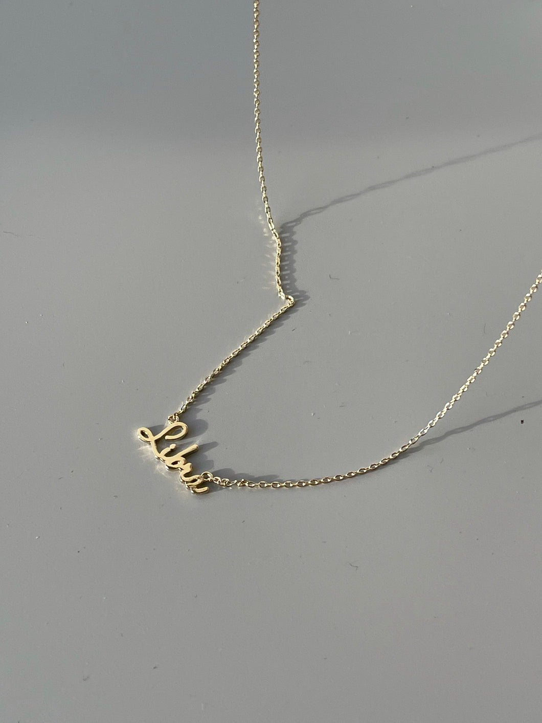 Libra Charm Necklace In Gold