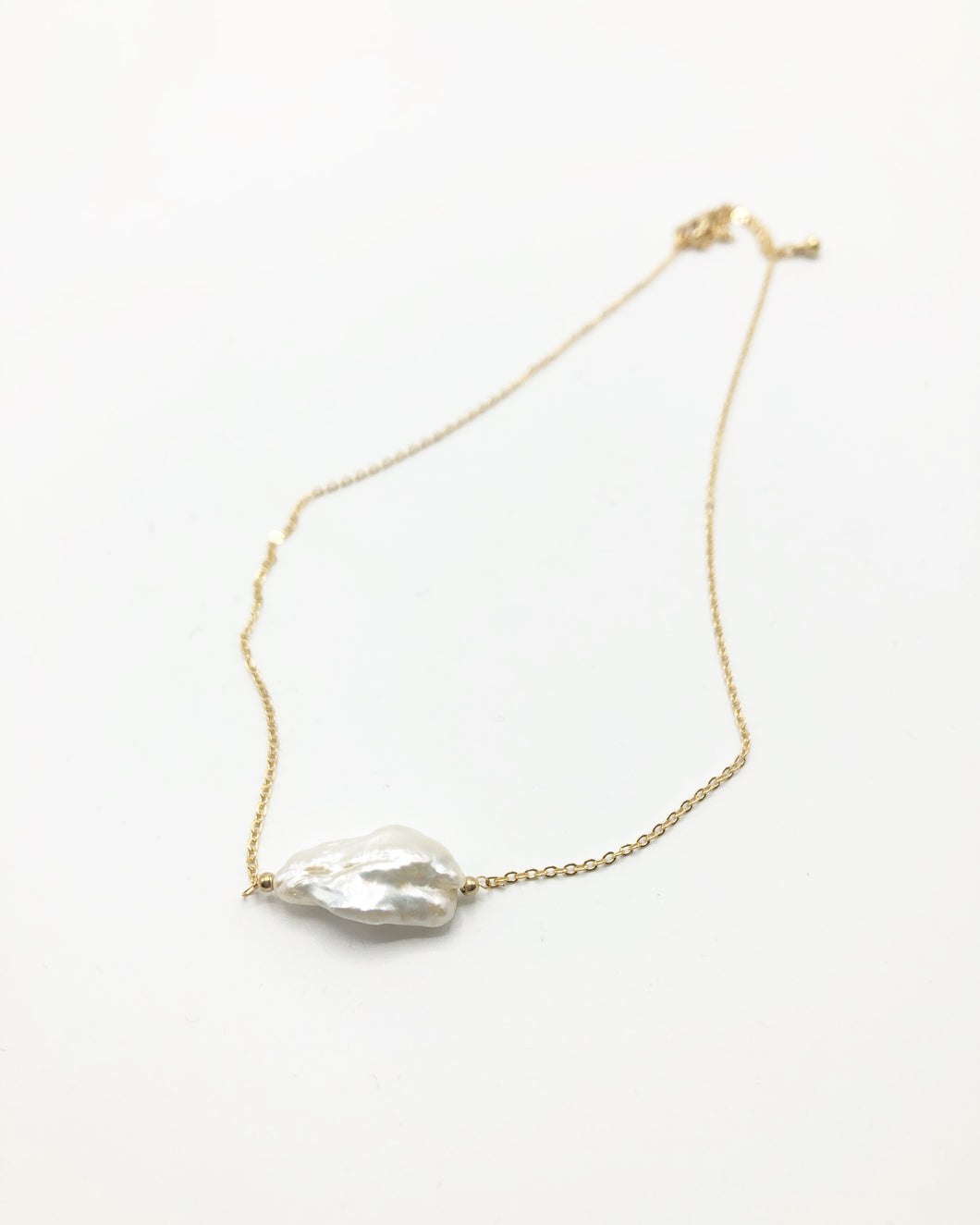 Organic Freshwater Pearl Necklace Large
