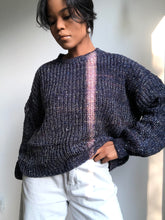 Load image into Gallery viewer, Morgan Balloon Sleeve Sweater In Navy