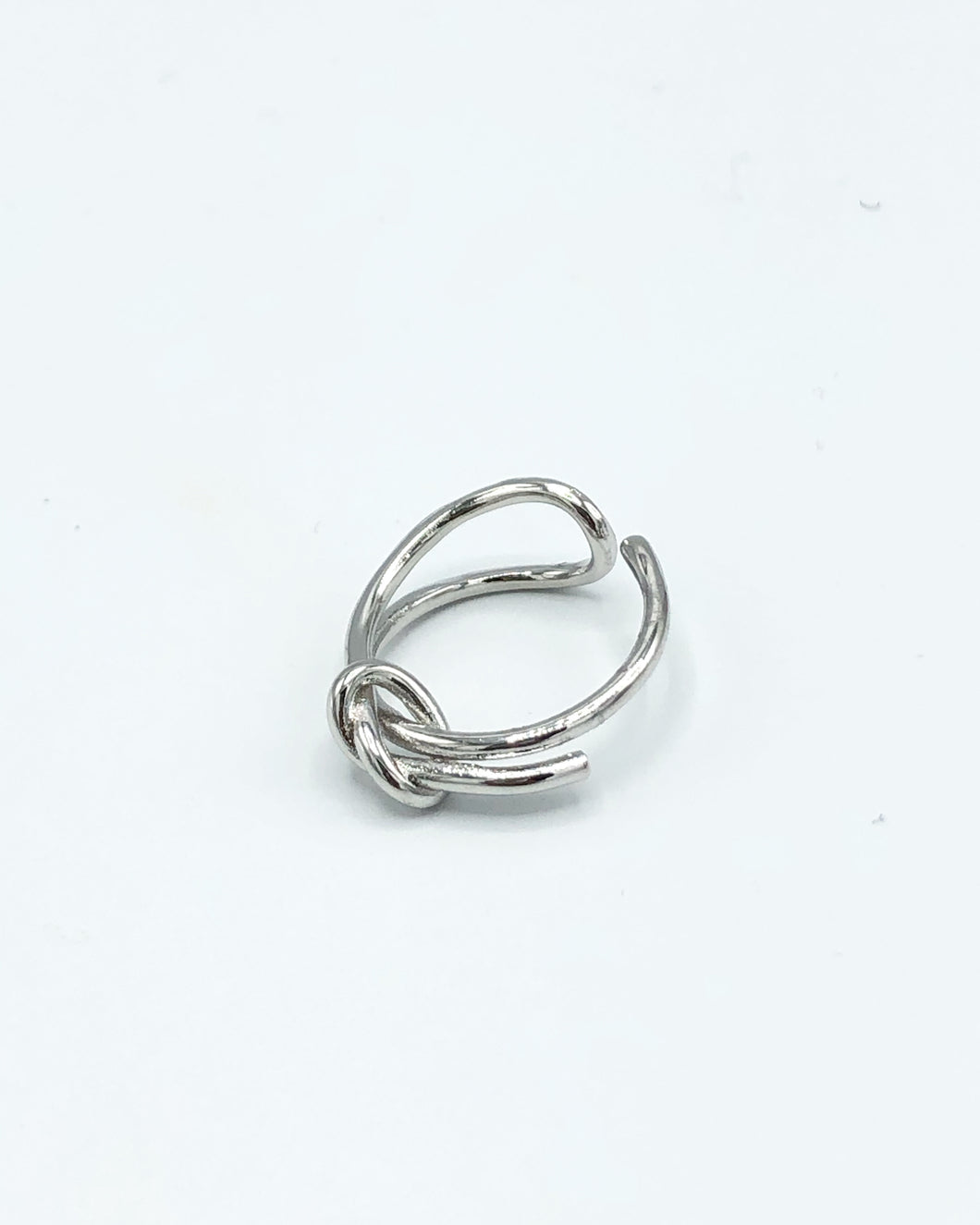 Forget Me Knot Promise Ring In Silver