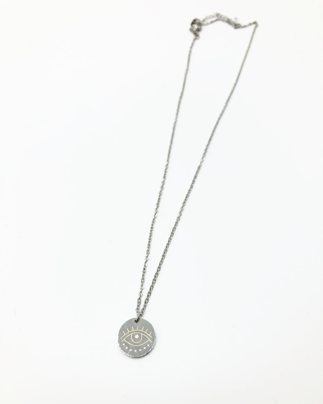 Evil Eye Pendant Necklace In Silver