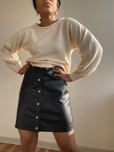 Load image into Gallery viewer, Frances Vegan Leather Mini Skirt In Black