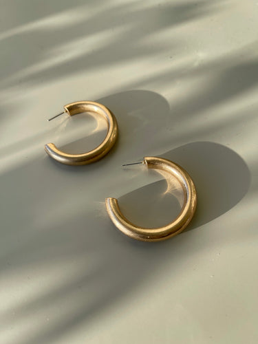 Simi Burnish Gloss Chunky Hoops