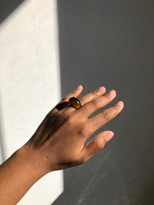 The Bradi Acrylic Ring In Coffee