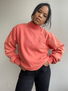 Braydon Turtleneck Simi Cropped Pullover In Tangerine