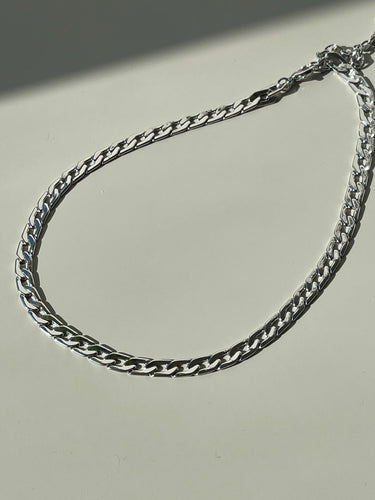 Paula Classic Crum Flat Chain Necklace In Silver