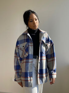 Lumberjack Jackie Jacket In Royal Blue