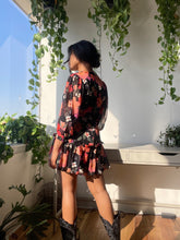 Load image into Gallery viewer, Zion Puff Sleeve Flower Mini Dress