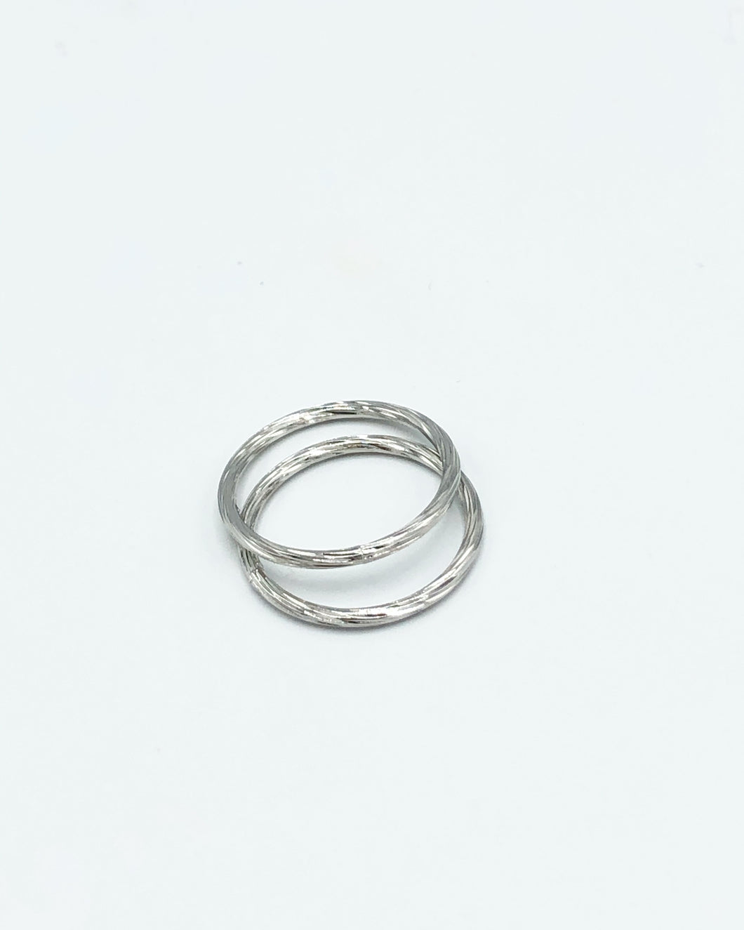 Classic Double Link Rings In Silver