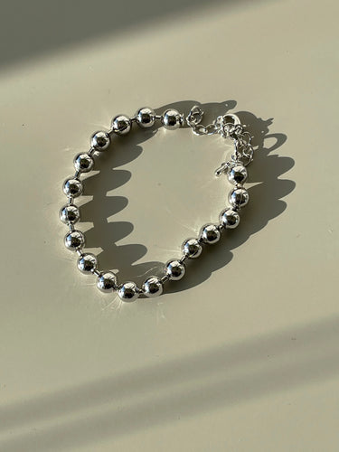 90s Classic Ball Chain Bracelet In Silver