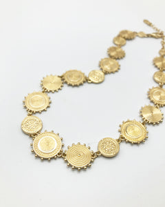 Gypsy Statement Necklace In Gold