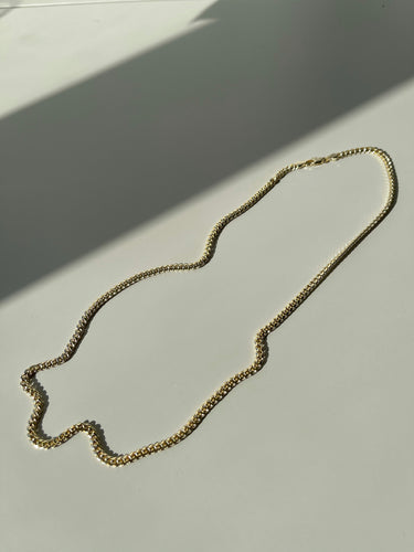 Christine Mini Crum Necklace In Plated Gold