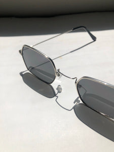 Mary 90s Sunglasses In Silver